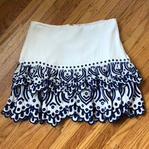 Lovers & Friends Vivian Ruffle Skirt, S